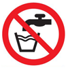 do not drink safety sign